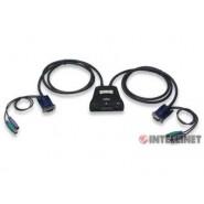 Mini Switch KVM de 2 puertos, PS/2
