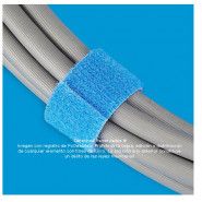 Velcro doble cara de 3/4 in, ROLLO AZUL de 23 m